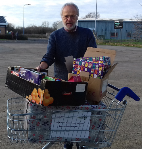 Catalina Software Donates Food And Gifts To The Downham Market Food Bank